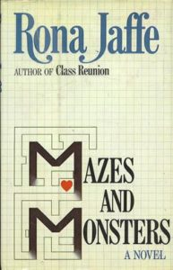 Cover art from the Rona Jaffe novel Mazes and Monsters.