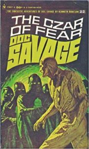 Doc Savage, The Czar of Fear book cover painted by James Bama.
