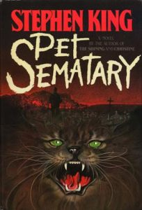 Cover of Stephen King's novel, Pet Sematary.
