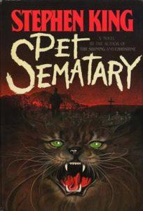 Cover of Stephen King's novel, Pet Sematary.